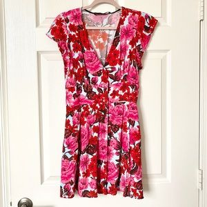 Zara Floral Button Front Dress
